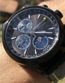 ZK No.1 - Black Moon Automatic Watch with Moon Phase Chronograph and Full Calendar