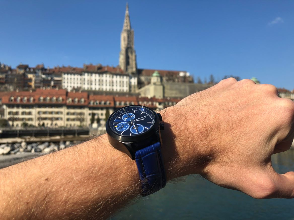 ZK No.1 - Blue Moon Black Series Automatic Watch with Moon Phase Chronograph and Full Calendar