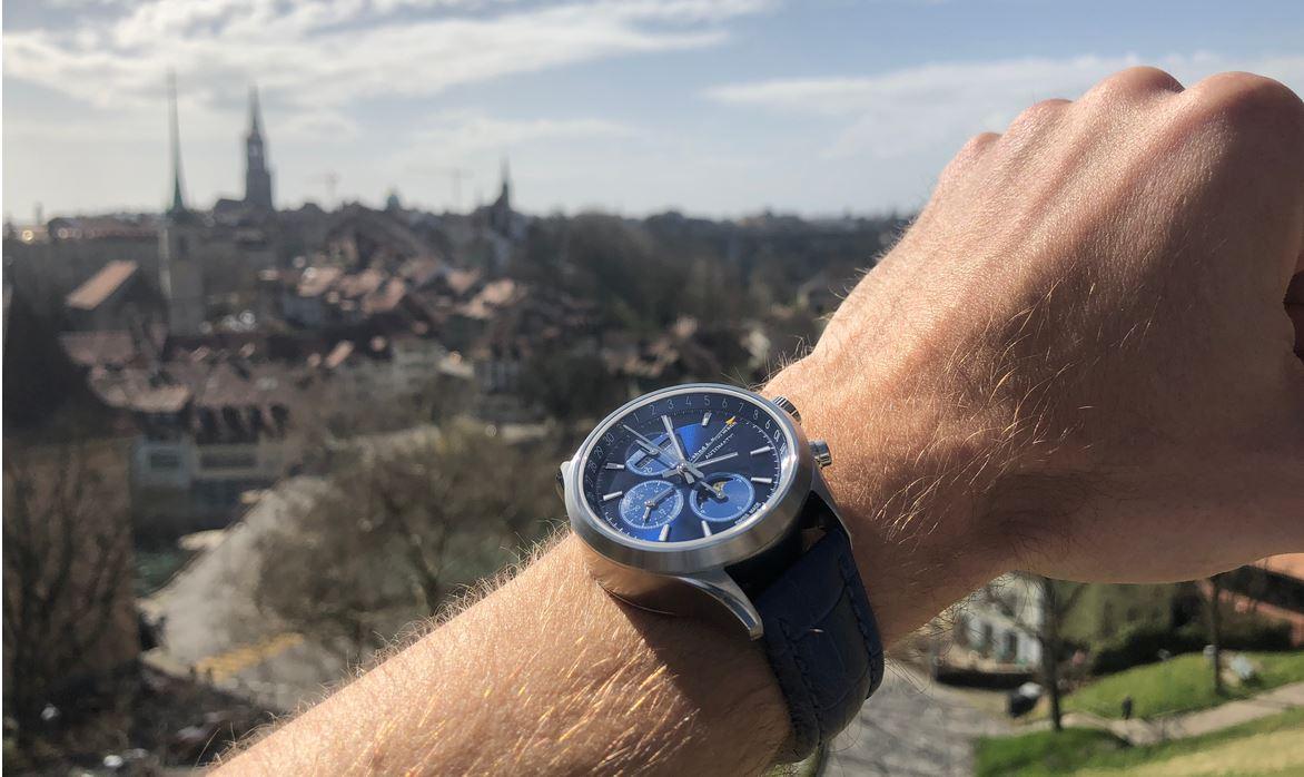 ZK No.1 - Blue Moon Automatik Uhr mit Mondphase Chronograph und vollem Kalender