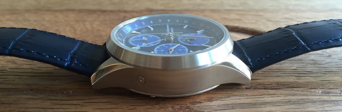 ZK No.1 - Blue Moon Automatic Watch with Moon Phase Chronograph and Full Calendar
