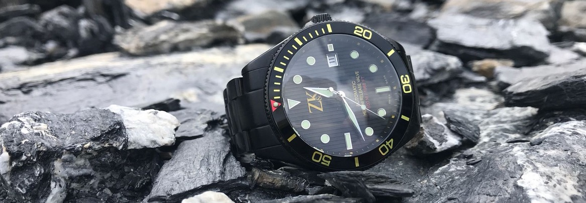 ZK No.2 automatic dive watch, 44mm, 60 ATM, helium release valve