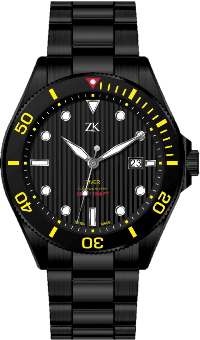 Automatic Chronomoter Diver Black and Yellow
