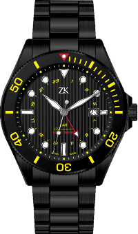 Automatic Chronomoter GMT Black and Yellow