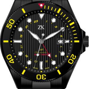 Automatic chronometer GMT the black and yellow