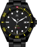 Automatic chronometer diver the black and yellow