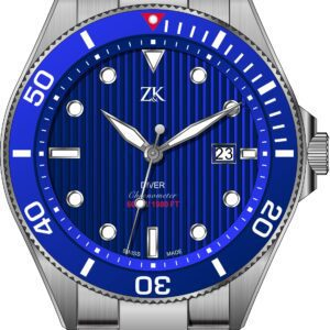 Automatic chronometer diver the blue