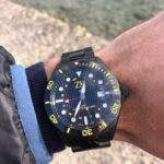ZK No2 Black and Yellow GMT in front of Lake Thun