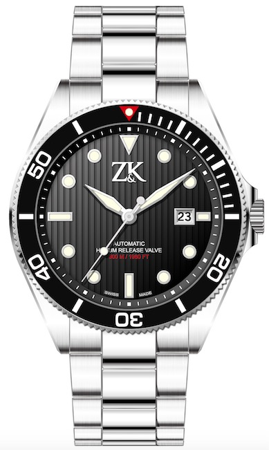 ZK No2. Special Series White Gold Diver