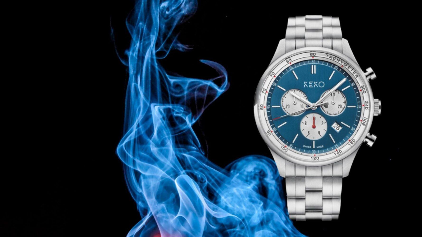keko-uhr-reliabla-blue-chronograph