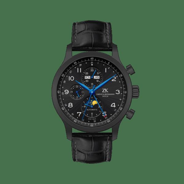 zahnd-und-kormann-automatikuhr-zk-1.2-black-moon-in-schwarzem-gehaeuse-mit-blauen-zeigern